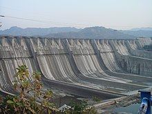 The Sardar Sarovar Dam during a 2006 height increase.