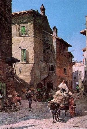 Vecchie Case a via della Lungaretta in Rome (r...