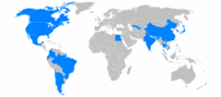 World locations of General Motors auto factories