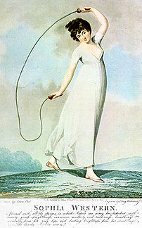 An 1800 depiction of jumping rope