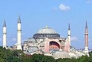 Exterior view of the Hagia Sophia