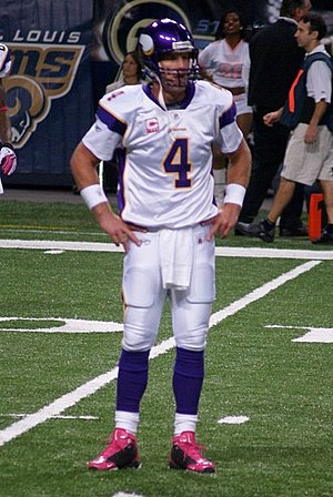 Brett Favre with the Vikings