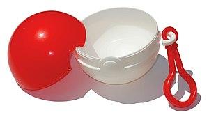 English: Photograph of a Poké Ball container, ...