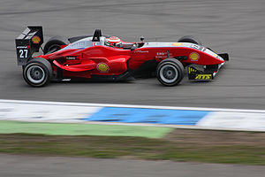 English: Formula three racing car at Hockenhei...