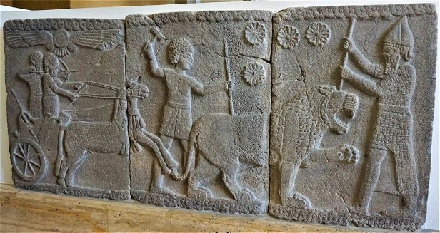 Lion Hunting Scene - 750 BC - Pergamon Museum