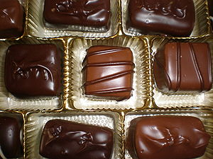 A Russell Stover caramels and chews assortment...