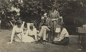 A group at Garsington Manor, country home of L...