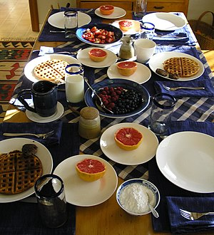 American Country Breakfast served around Thank...