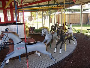 Merry-go-round at Boort Victoria