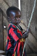 A little boy at one of the refugee camps in Goma.