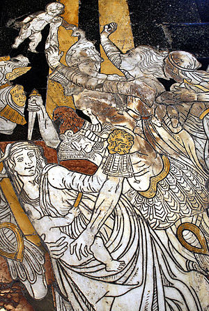 Floor mosaic Strage degli Innocenti (Slaughter...