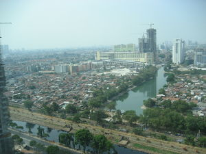 English: Jakarta town view from Shangli-la hot...