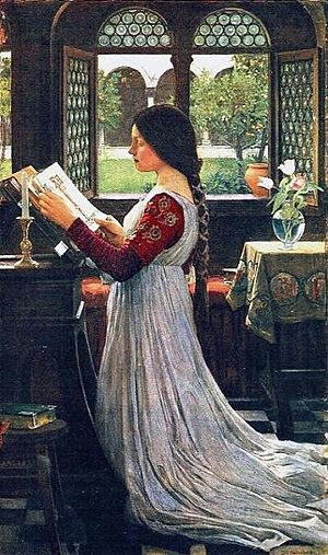 The Missal by John William Waterhouse, showing...