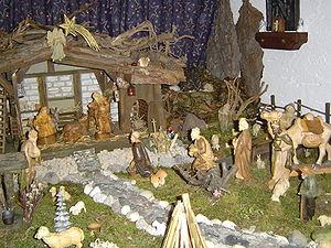 Krippe crib family w 3wisemen