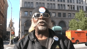 Photo of Jimmy McMillan promoting his Rent Is ...