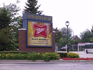 English: Entrance to Miller Brewery in Milwauk...