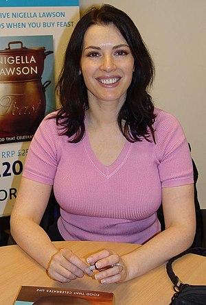 Nigella Lawson at a Borders book-signing