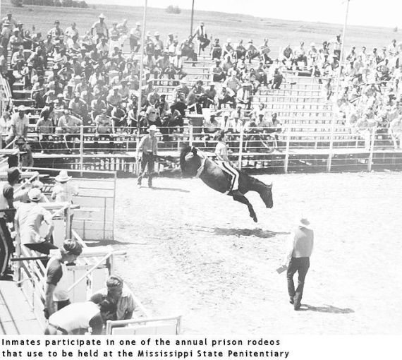 "English: Parchman Prison Rodeo ""Inmates p..."
