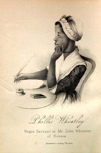 English: Phillis Wheatley. A variant of earlie...