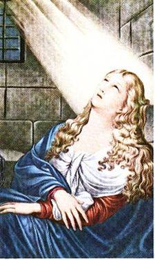 Sant'Agata al carcere, da un dipinto custodito nel Duomo di Catania.