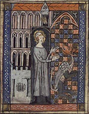 Saint Amand et le serpent (Saint Amandus and t...
