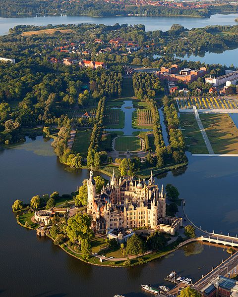 Schwerin - the administrative center of the federal state of Mecklenburg - Western Pomerania