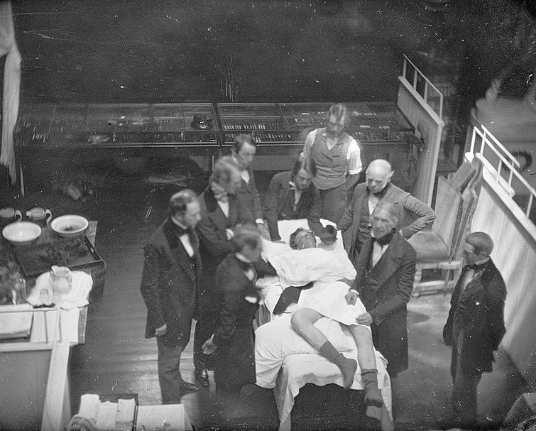 File:Southworth & Hawes - First etherized operation (re-enactment).jpg