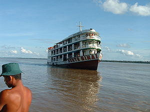 Regional ship on the amazon river