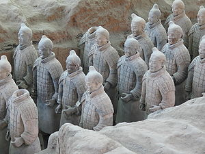 English: Terracotta army, discovered in the to...