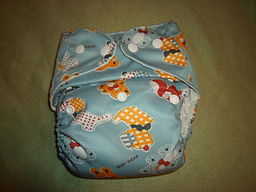 Blue Stuffed Animals Alva Baby Cloth Diaper