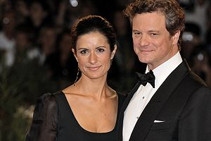 Colin Firth and Livia Giuggioli at 2009 Venice...
