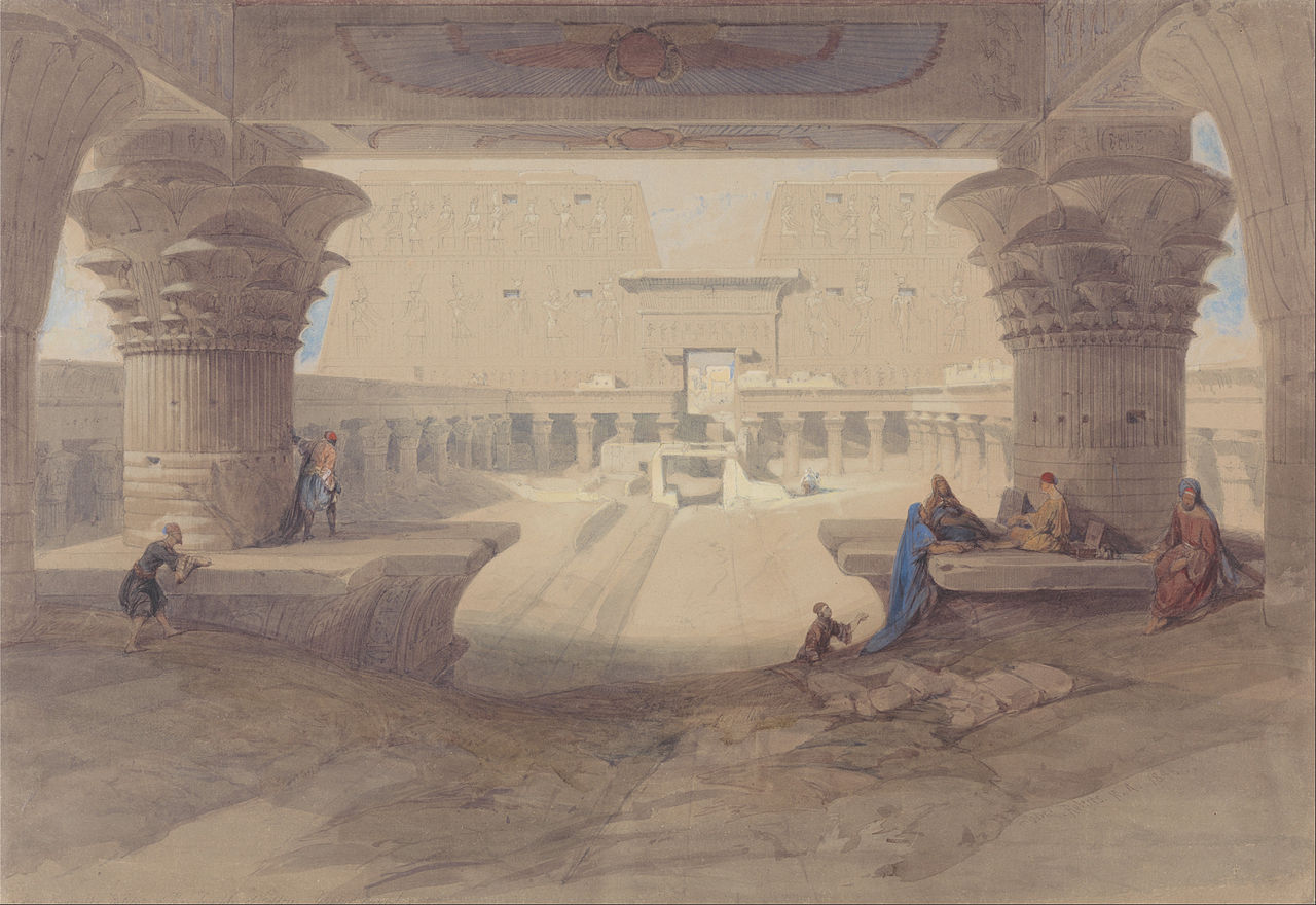 File David Roberts From Under The Portico Of The Temple