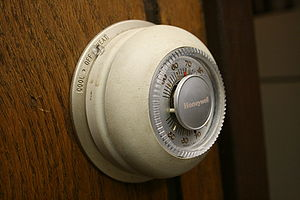 Picture of Honeywell's iconic model T87 thermo...