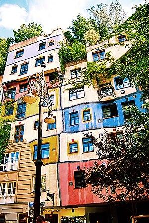 Deutsch: Österreich, Wien, Hundertwasserhaus E...