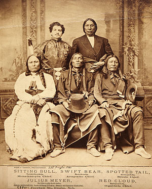 Sitting Bull, Red Cloud, Swift Bear, and Spott...