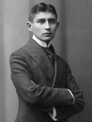 A portrait of the Bohemian writer Franz Kafka ...