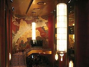 Lobby of Radio City Music Hall, Manhattan, New...