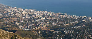 The city of Marbella in Andalucia, Spain. View...