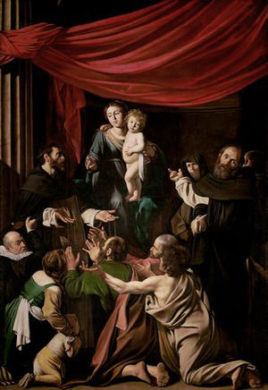 St. Dominic receiving the Rosary from the Virg...