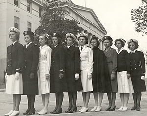 English: Navy nurses in the 1940s.