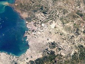 English: Port-au-Prince, capital of Haiti.