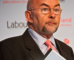 Ruairi Quinn at a Labour Party Press Conferenc...