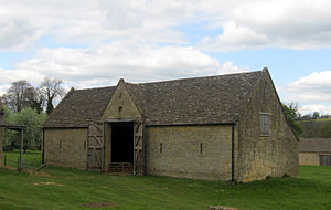 Tithe barn at Guiting Power, Gloucestershire