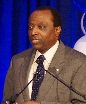 English: Alan Keyes at a campaign rally.