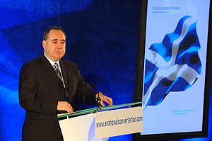 First Minister Alex Salmond speaks at the laun...