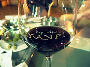 Italian wine from Castello Banfi in Tuscany