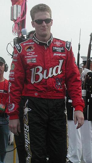 Dale Jr. at the Pepsi 400 in 2002.