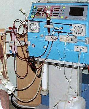 Ein Hämodialysegerät (Gambro AK 200)