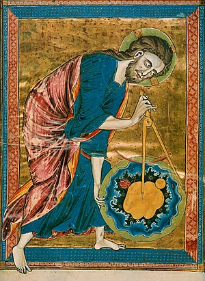 The medieval Christian view of God creating th...