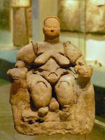 English: Goddess of fertility, Ankara Anatolia...